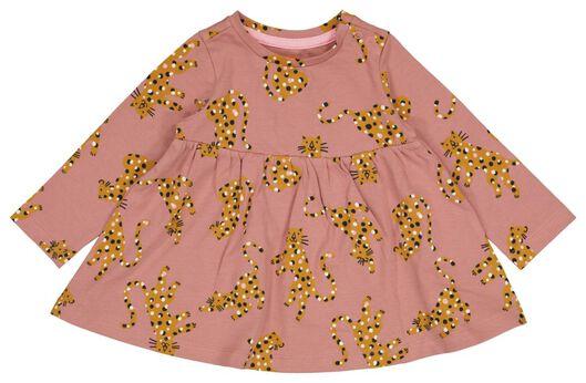 baby jurk luipaard roze 68 - 33048443 - HEMA