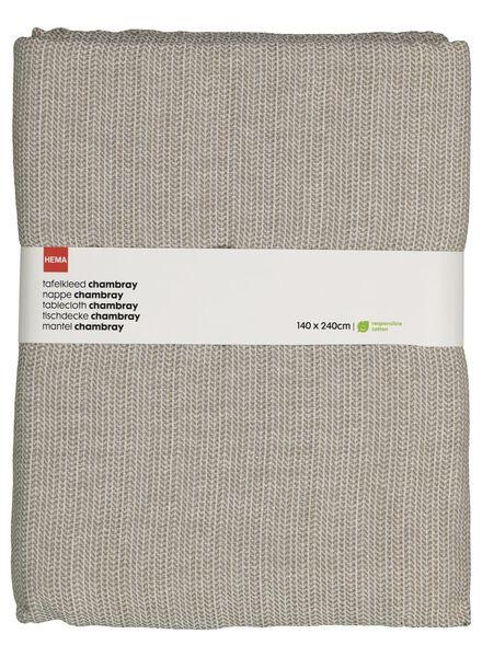 tafelkleed - 140 x 240 - cambray katoen - wit - 5300075 - HEMA