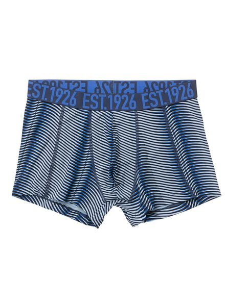 heren boxer - microfiber blauw blauw - 1000001096 - HEMA