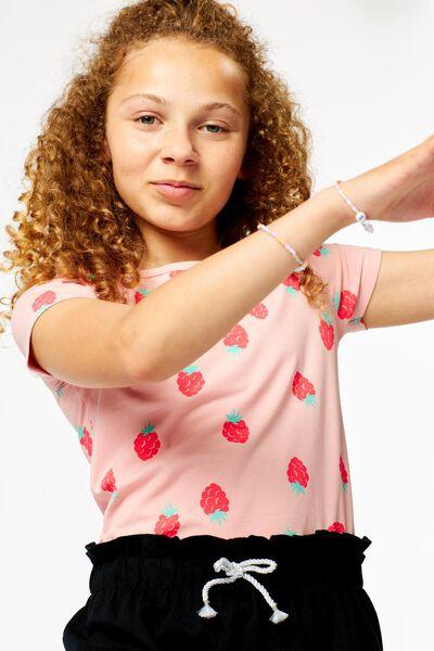 kinder t-shirt frambozen roze roze - 1000024059 - HEMA