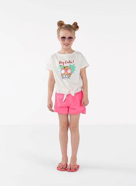 2-pak korte kinderbroeken fluor roze fluor roze - 1000013099 - HEMA