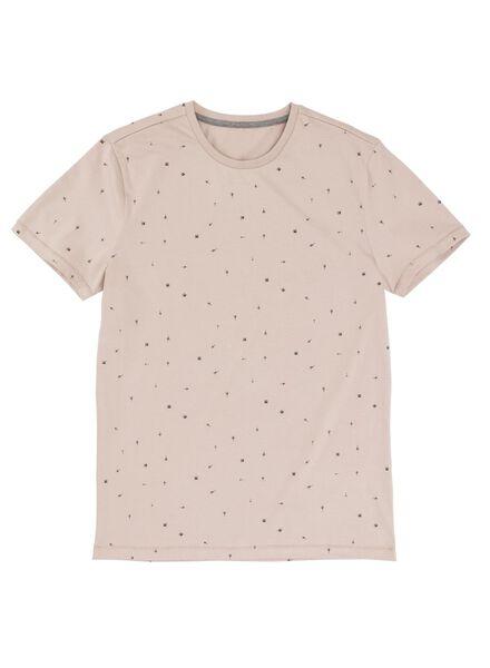 heren t-shirt oudroze oudroze - 1000009019 - HEMA
