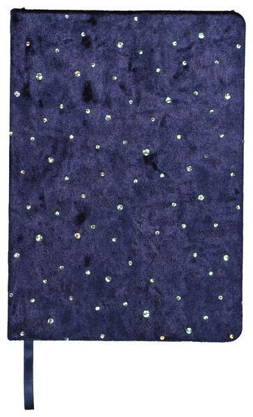 notitieboek A5 velvet glitters - 14126673 - HEMA