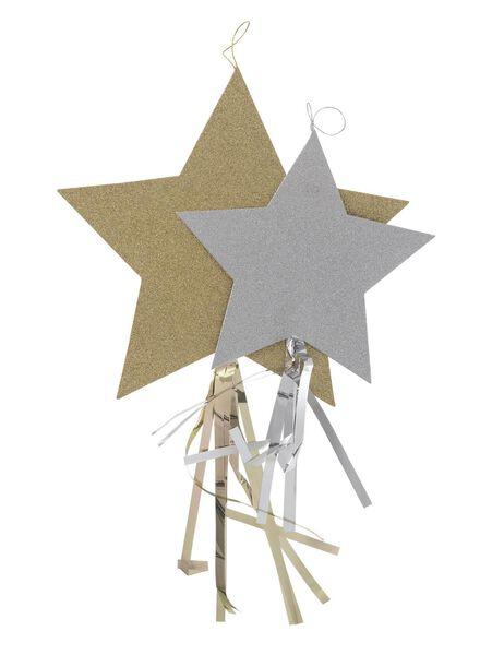 2-pak deco sterren - 25250011 - HEMA