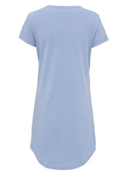 dames nacht t-shirt felblauw felblauw - 1000008558 - HEMA