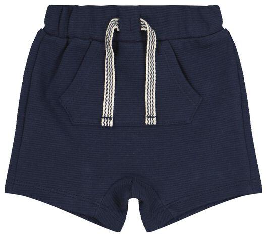 baby korte broek donkerblauw donkerblauw - 1000020745 - HEMA