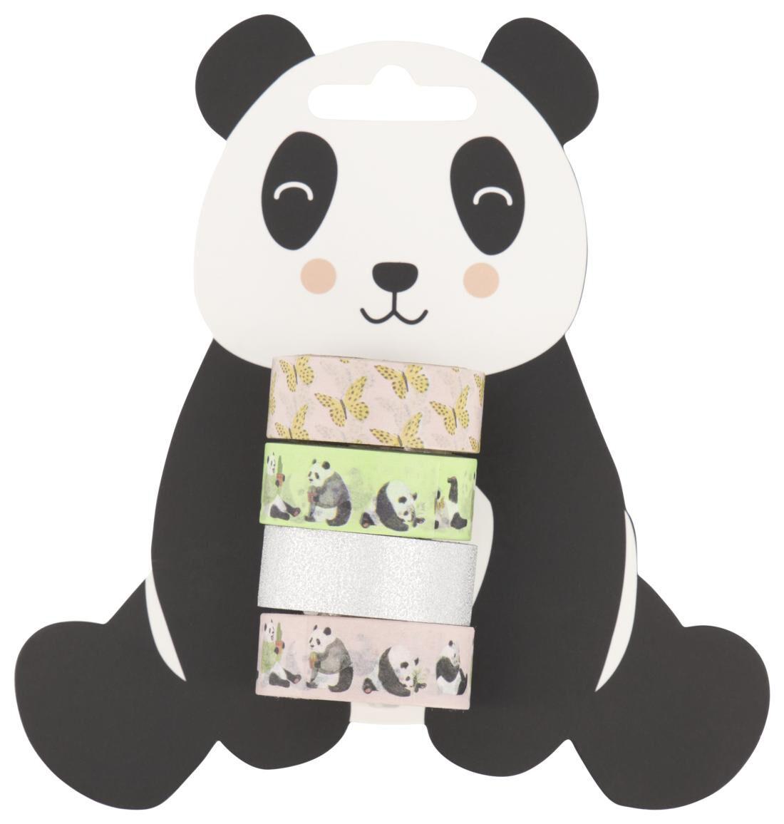 HEMA Washi Tape Panda 4 Stuks