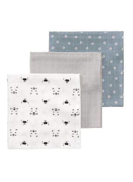 3-pak hydrofieldoeken 60 x 60 cm - 33328048 - HEMA