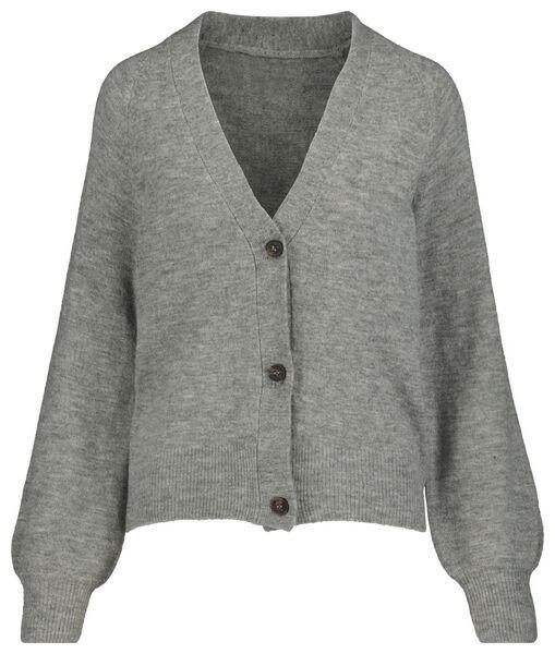 damesvest gebreid grijsmelange grijsmelange - 1000018965 - HEMA