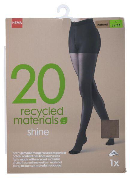panty van gerecycled materiaal glans 20 denier naturel naturel - 1000013191 - HEMA
