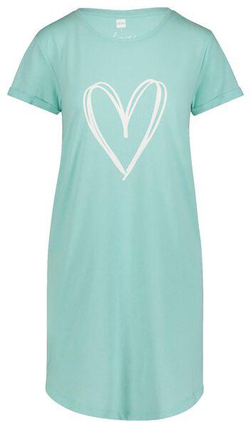dames nachthemd lichtgroen - 1000019779 - HEMA