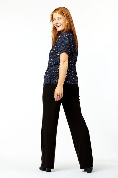 dames top animal zwart XL - 36320779 - HEMA