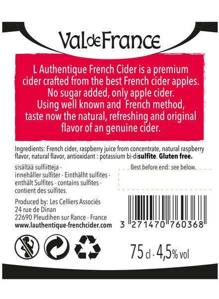 val de france raspberry cider brut - 17310021 - HEMA