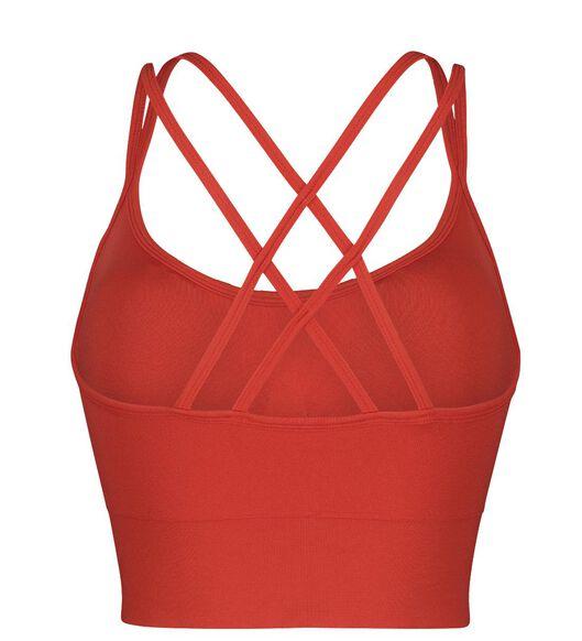 sportbh medium naadloos oranje - 1000021263 - HEMA