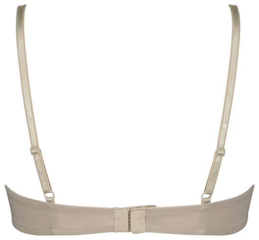 padded t-shirt bh katoen - 2 stuks beige 90D - 21821271 - HEMA
