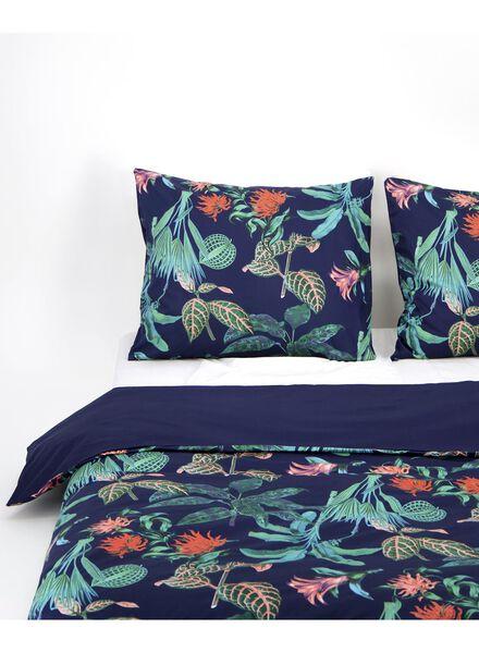 dekbedovertrek - hotel katoen satijn - botanisch donkerblauw - 1000016618 - HEMA