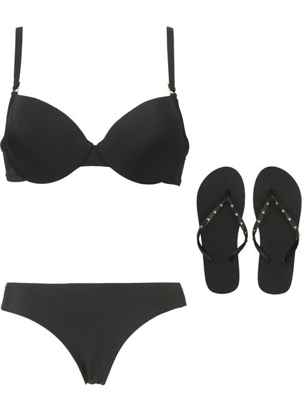 dames bikinitop padded met beugel zwart zwart - 1000011807 - HEMA