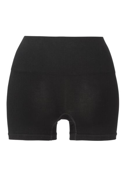 corrigerende damesboxer naadloos met bamboe zwart zwart - 1000002369 - HEMA