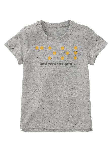 kinder t-shirt grijs grijs - 1000011342 - HEMA
