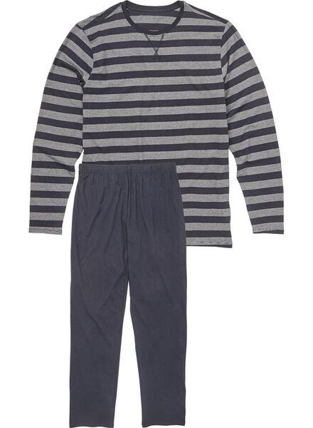 herenpyjama donkerblauw donkerblauw - 1000009286 - HEMA