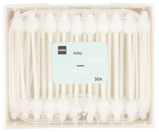 baby wattenstaafjes katoen/papier - 50 stuks - 11335006 - HEMA