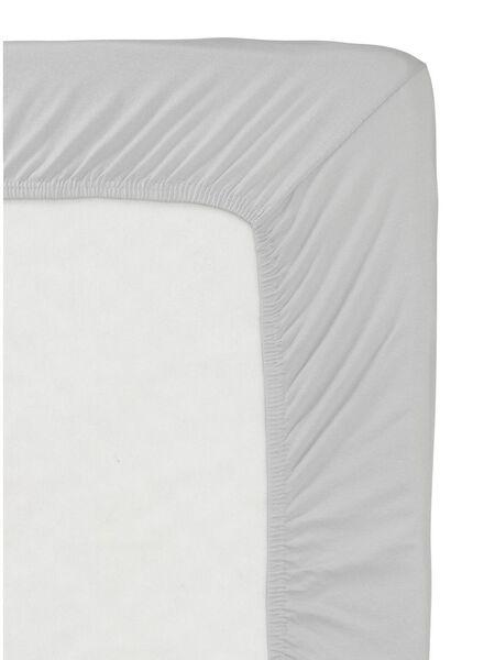 hoeslaken - jersey katoen - 90 x 200 cm - lichtgrijs - 5140002 - HEMA