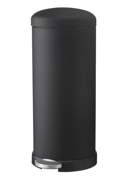 prullenbak 30L zwart - 20500042 - HEMA