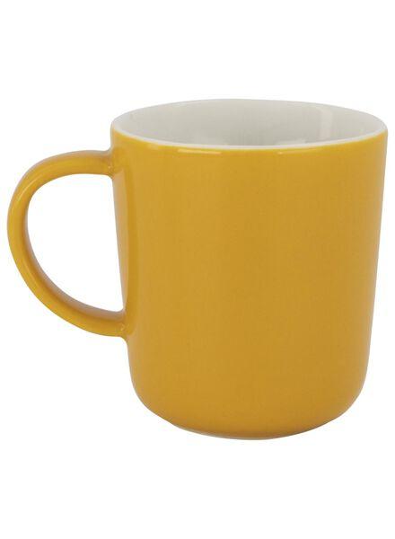 koffiemok - 130 ml - Chicago - geel 130 ml geel - 9602103 - HEMA