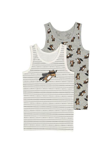 2-pak kinderhemden grijsmelange grijsmelange - 1000014655 - HEMA