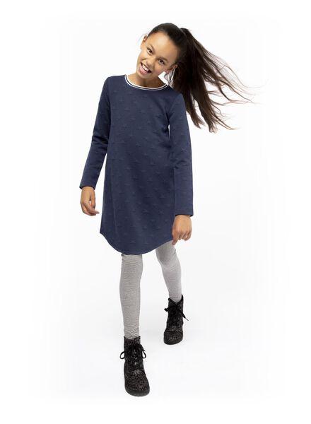 kinderjurk blauw blauw - 1000016579 - HEMA