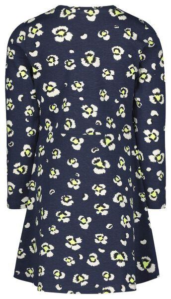 kinderjurk bloemen donkerblauw 86/92 - 30800768 - HEMA