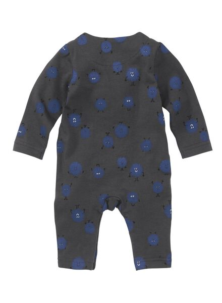 newborn jumpsuit donkerblauw donkerblauw - 1000008438 - HEMA