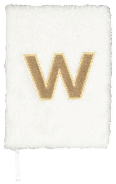 Notitieboek A5 fluffy letter W