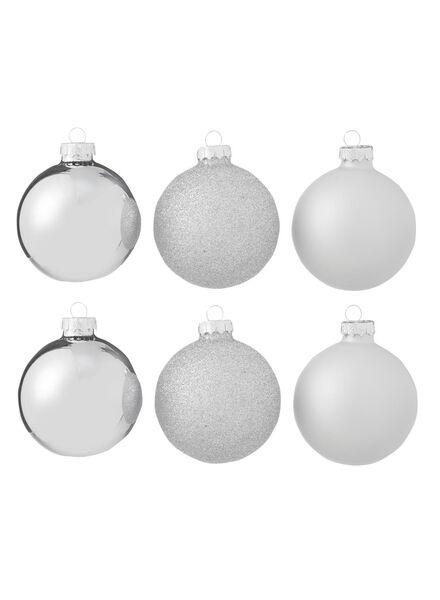 6-pak glazen kerstballen - 25100702 - HEMA