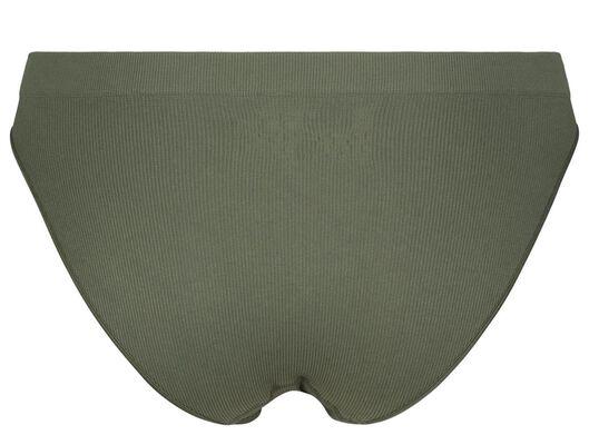 damesslip rib naadloos groen groen - 1000021763 - HEMA