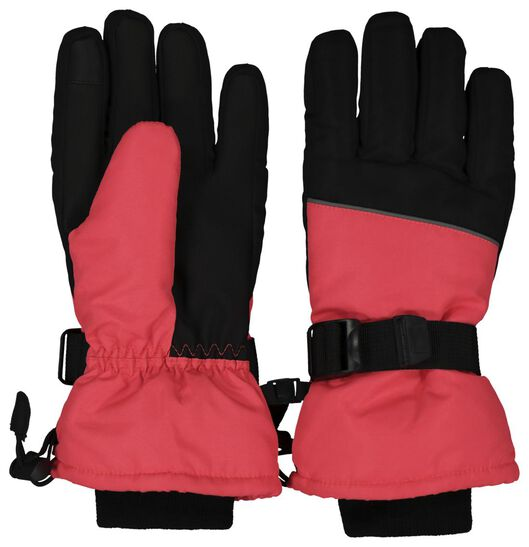 kinder skihandschoenen roze 122/128 - 16780042 - HEMA