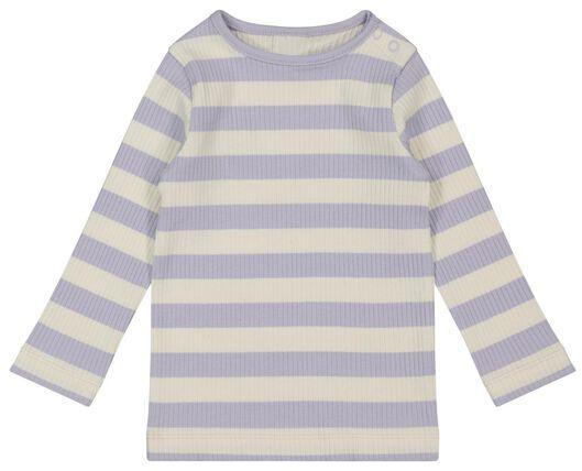 baby t-shirt rib lila 80 - 33008444 - HEMA