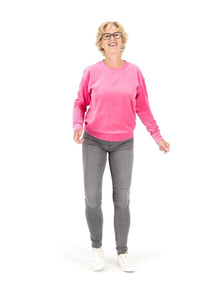 dames sweatshirt roze roze - 1000014759 - HEMA