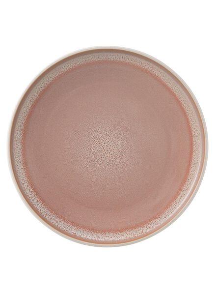 dinerbord - 26.5 cm - reactief glazuur - roze - 9670200 - HEMA