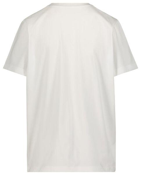 dames t-shirt Jip in de war wit M - 36292572 - HEMA