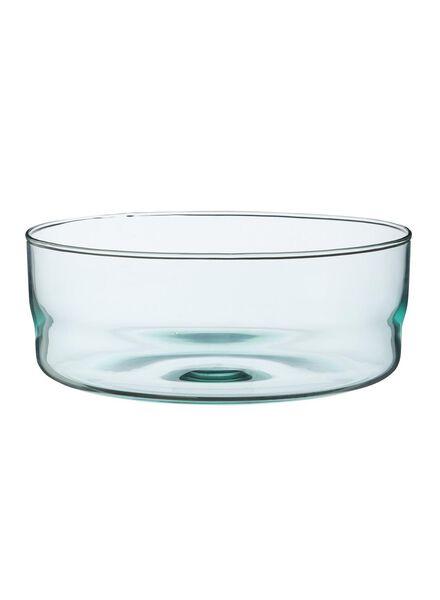 schaal - 23 cm - Bergen - blauw glas - 9680035 - HEMA