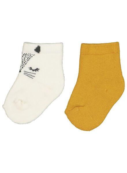 2-pak babysokken geel geel - 1000015103 - HEMA
