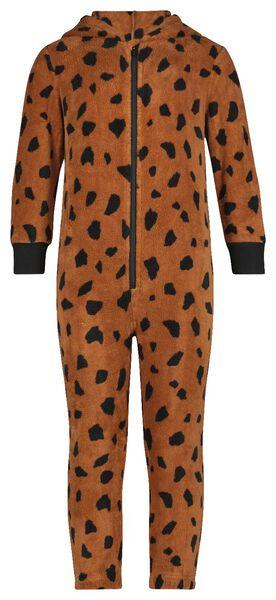 kinder onesie fleece cheetah bruin bruin - 1000025321 - HEMA