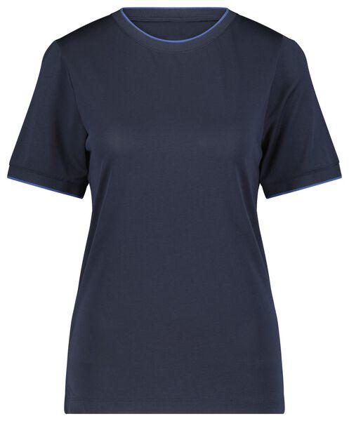 dames t-shirt donkerblauw - 1000021231 - HEMA