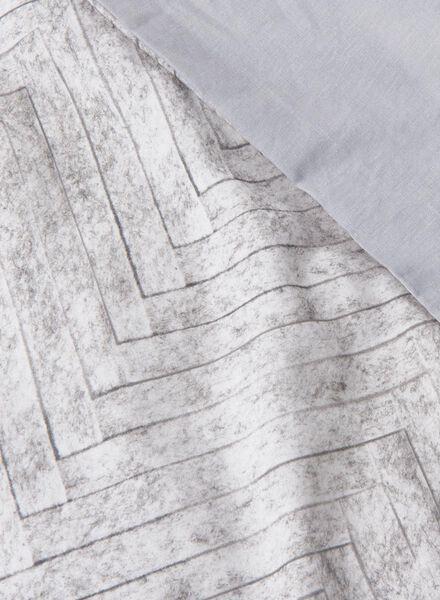 dekbedovertrek - zacht katoen - 140 x 200 cm - grijs print vilt - 5750037 - HEMA