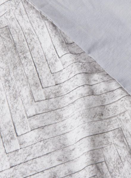 dekbedovertrek - zacht katoen - 200 x 200 cm - grijs print vilt - 5750038 - HEMA