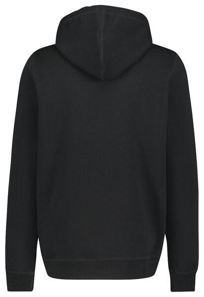 herenvest met capuchon zwart zwart - 1000020164 - HEMA