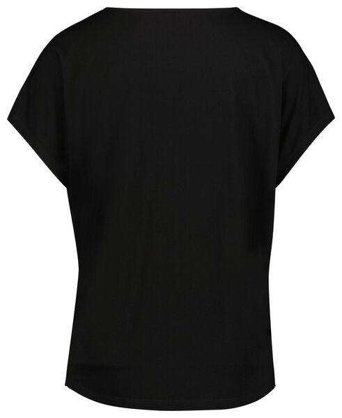 dames t-shirt zwart zwart - 1000023978 - HEMA