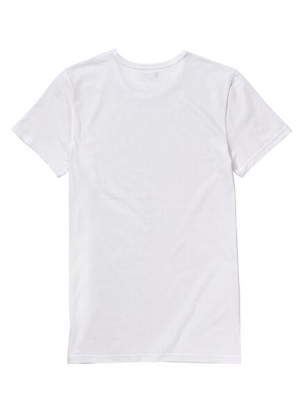 2-pak heren t-shirt naadloos wit wit - 1000009848 - HEMA