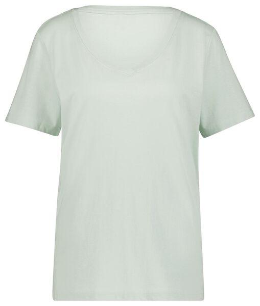 dames t-shirt lichtgroen L - 36370488 - HEMA